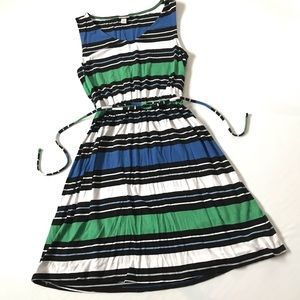 3/$25 MERONA striped scoop neck stretchy dress S